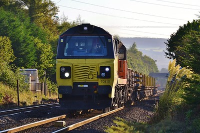 70810 6C21 Cardiff Central to Margam at Coychurch 17/9/16.