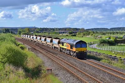 66849 6C26 Westbury to Whitland at Pembrey 25/4/17.