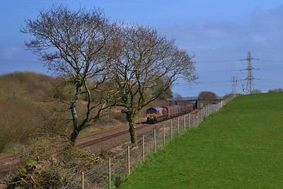 66103 6H26 Llanwern to Margam at Stormy 24/3/17.