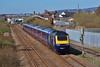 43026 & 43063 1L52 09:38 Carmarthen to London Paddington at Llanelli 25/3/17.