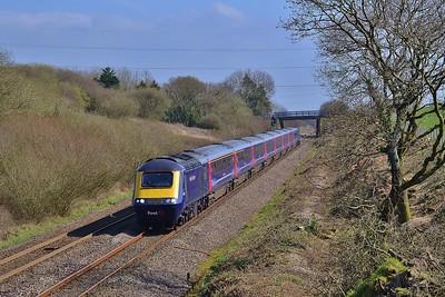 43087 & 43138 1B20 09:45 London Paddington to Swansea at Stormy 24/3/17.
