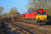 66009 6H27 1352 Margam to Llanwern at Pontsarn 17/11/18.