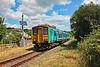 150250 2V38 0900 Shrewsbury to Newport at Hendy Junction 14/7/18.