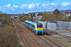 175115 1E14 1125 Milford Haven to Swansea at Llanelli 8/4/18.