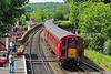 The 14:20 to Kidderminster is propelled into Bewdley by 33108 on 17/5/18.