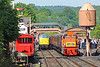 D9551 10:30 Bridgnorth to Kidderminster and 45041 with the 11:53 to Kiddermisnter  at Bewdley 17/5/18.