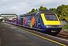 43027 & 43188 1B15 0845 Paddington to Pembroke Dock at Llanelli 28/7/18.