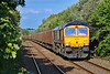 66760 6V32 Tilbury to Trostre at Bynea 26/7/18.