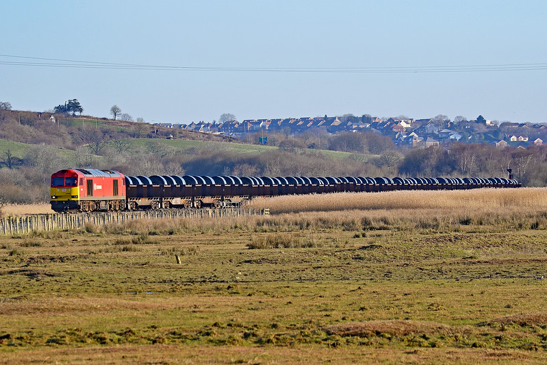 60001 6B11 Margam to Trostre at Llangennech 25/02/18.