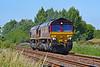 66076 & 66187 0B01 Trostre to Margam at Loughor 8/7/18.