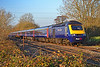 43158 & 43094 1L71 1429 Swansea to Paddington at Pontsarn 17/11/18.