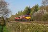66200 & 66118 0O12 Margam to Alexandra Dock Junction at Coychurch 21/4/18.