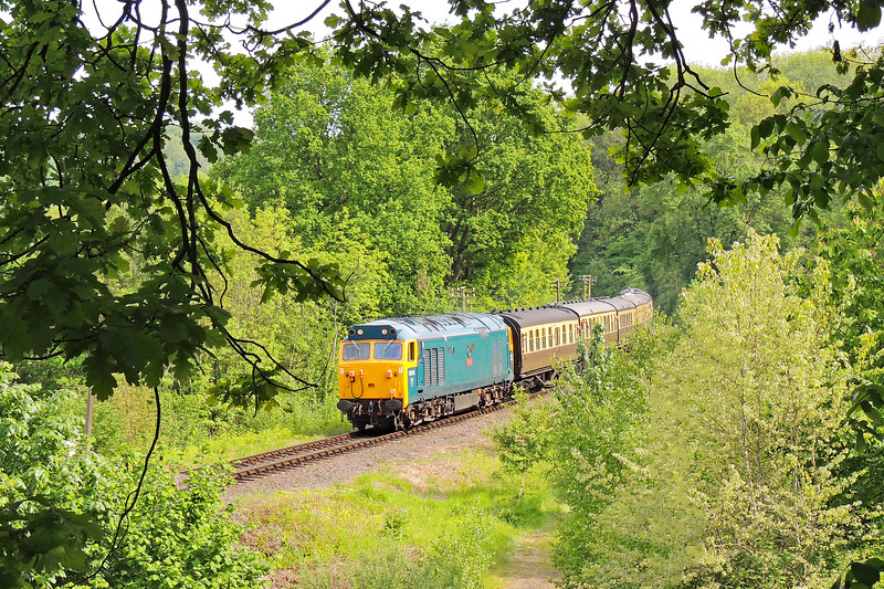 50035 15:23 Kiddermister to Bridgnorth at Highley 18/5/18.