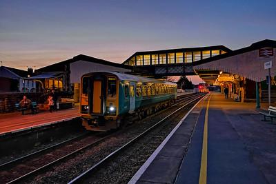 153327 2V10 1405 Shrewsbury to Swansea at Llanelli 15/2/19.
