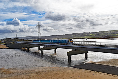 175116 1B10 0933 Newport to Milford Haven at Loughor 8/3/2020.