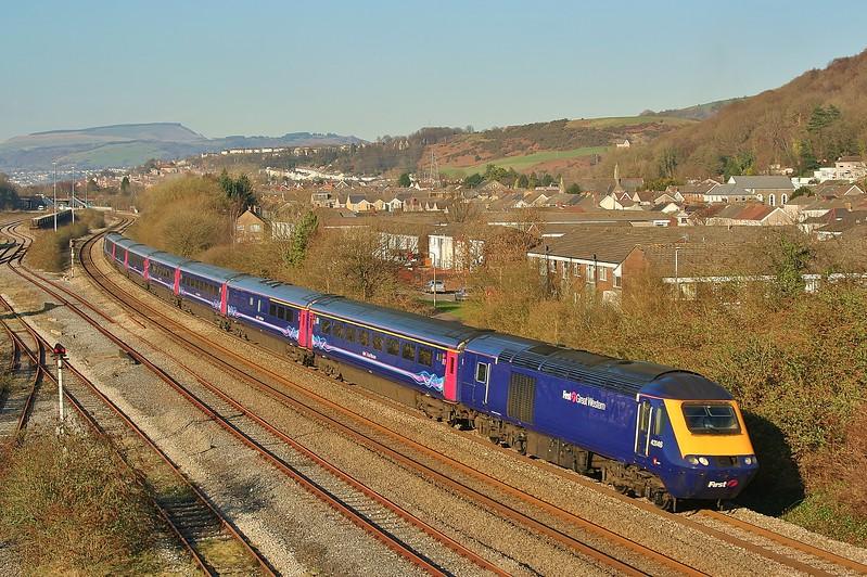 43146 & 43132 15:28 Swansea to London Paddington at Briton Ferry 04/03/2011.