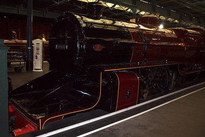 "The LMS Hughes ""Crab"" Mogul in the Station Hall of the NRM."