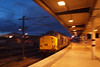 37604, hanging on the back of the train, heads through York. 03/12/11.