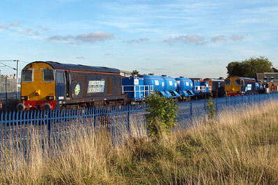 20305 and 20303 with 3S21 at Holgate, with 20304, 07/10/12.