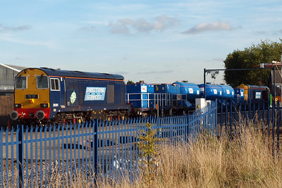 20301 Max Joule and 20302 on the 3S11 set at York Holgate Works, 07/10/12.