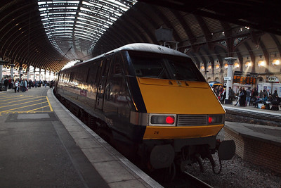 91126 heading for London Kings Cross at York. 24/02/11.