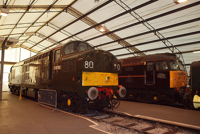 "D6700 and 47798 in ""the tent"". 24/02/11."
