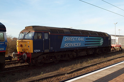 57004 in York Parcels Sidings. 24/02/11.