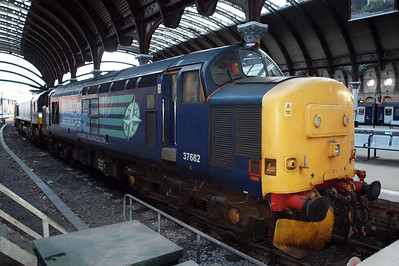 37682 at York, having been on route-learning duties to Lynemouth during the week. 30/06/11.