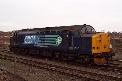 37510 sits in York Parcels Sidings. 02/03/11.