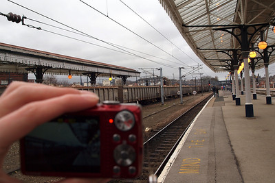 As well as taking photos with my Olympus DSLR, I was also videoing the train with my Fuji point-and-shoot. 05/03/11.