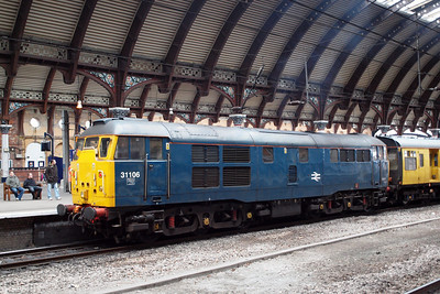 31106 under the trainshed at York. 05/03/11.