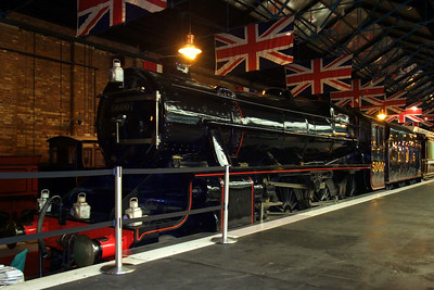 5000 sits in the Station Hall of the National Railway Museum.