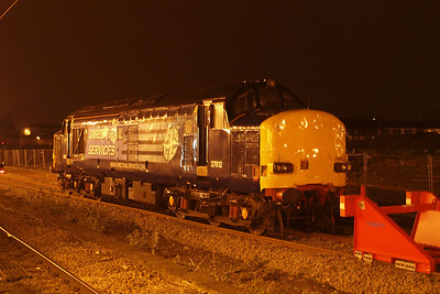 37612, now back in service with a revised nose, sits in York Parcels Spur (note the new name!), 13/03/12.