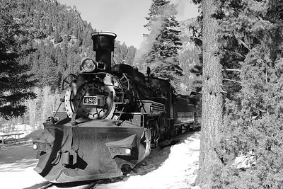 Train ride between Durango and Silverton Colorado