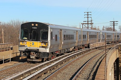 LIRR M7s coming off Hempstead branch