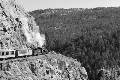 Train ride between Durango and Silverton Colorado