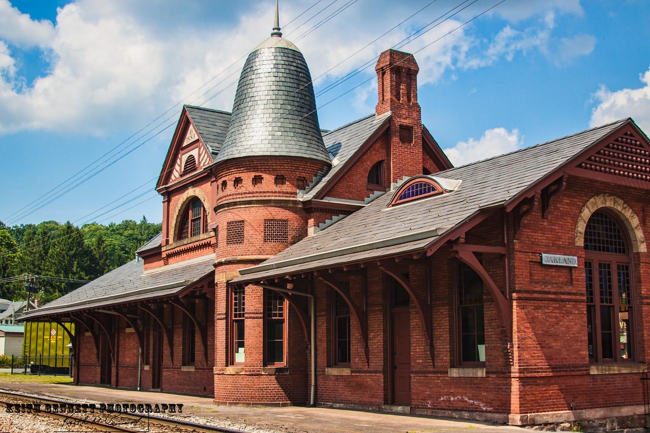 Train Station in Oakland, MD dating back to 1884