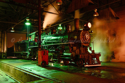 Steam Locomotive in the Engine House