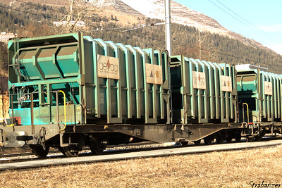 This work is licensed under a Creative Commons Attribution- NonCommercial 4.0 International License.  Davos, Graubunden, Switzerland    12/27/2016 Waste wagons for removing waste from Davos (perhaps to Untervaz?  Ref needed)