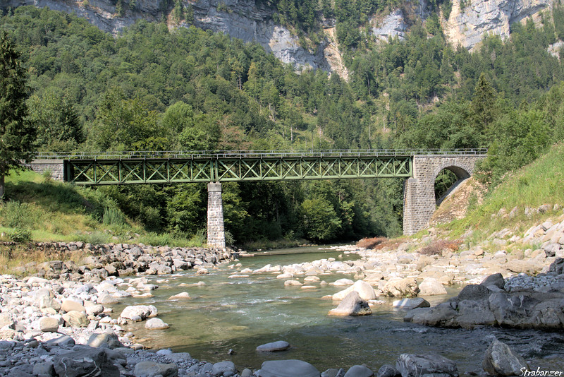 Waldebahn bridge over the Bregenzerach near Bezau,<br /> Vorarlberg,  Austria, 08/18/2018<br /> This work is licensed under a Creative Commons Attribution-<br /> NonCommercial 4.0 International License