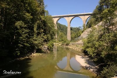 Sitter Viaducts, St. Gallen, Switzerland, 08/29/2017 Masonry arch bridge of the SBB built between 1924 and 1925    Across the Sitter River.    Arches are 30 metres and the height is 63 metres. This work is licensed under a Creative Commons Attribution- NonCommercial 4.0 International License