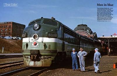 A-B-A Set of F-Units Head Up Train 407 (1955)