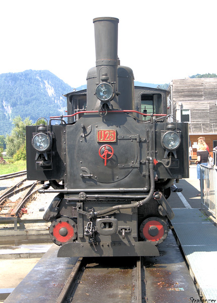 Steam locomotive U25 Bezau (built in 1902) <br /> Schwarzenburg (Andelsbuch), Vorarlberg, Austria 08/18/2018<br /> This work is licensed under a Creative Commons Attribution-<br /> NonCommercial 4.0 International License.