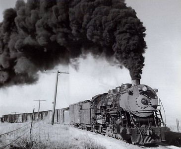 Colorado & Southern 2-10-4 at Boulder in 1954