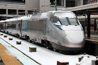 Acela Express at South Station, Boston