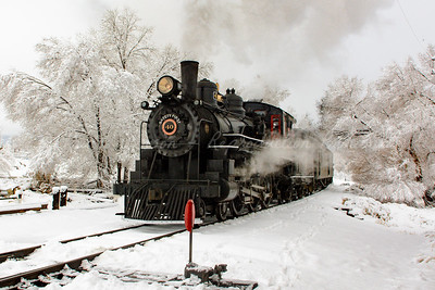 Arriving Steam Locomotive