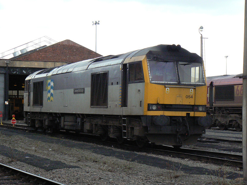60054 Charles Babbage in Freight Petroleum livery at Doncaster Carr Depot. Saturday 3rd April 2010.