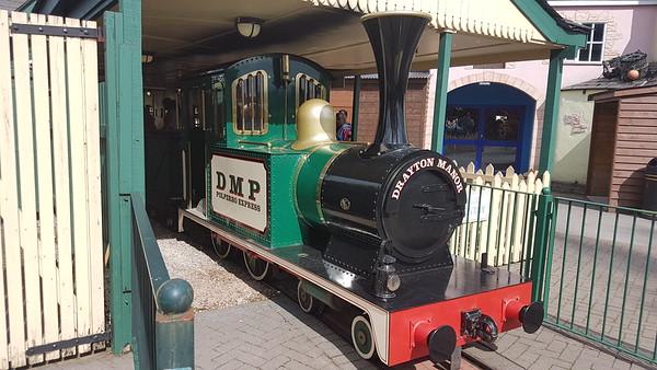 Severn Lamb SL 2151-3-03 'Polperro Express' on the Polperro Express Railway at Drayton Manor Theme Park. Sunday 11th August 2019.