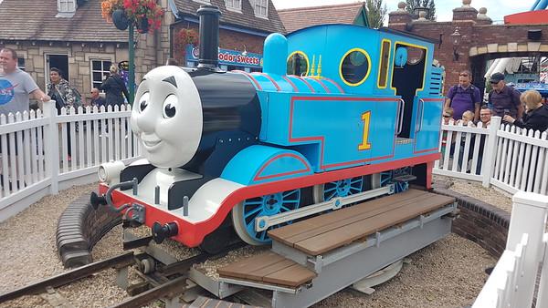 Mettalbau 081309 (Thomas 1) on the Thomas Land railway at Drayton Manor Theme Park. Sunday 11th August 2019.
