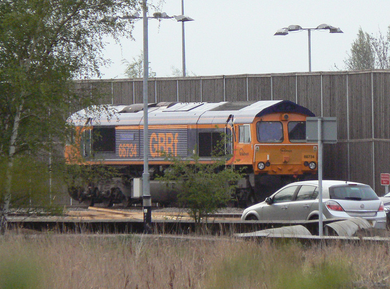 66734 is seen at Whitemoor Yard, March. Wednesday 2nd May 2012